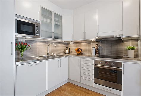 kitchen with white cabinets and built in modern kitchen modern white apartment interior decorating designofhome