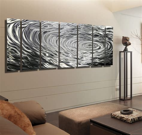 modern metal wall modern metal wall typhoon quot large modern abstract