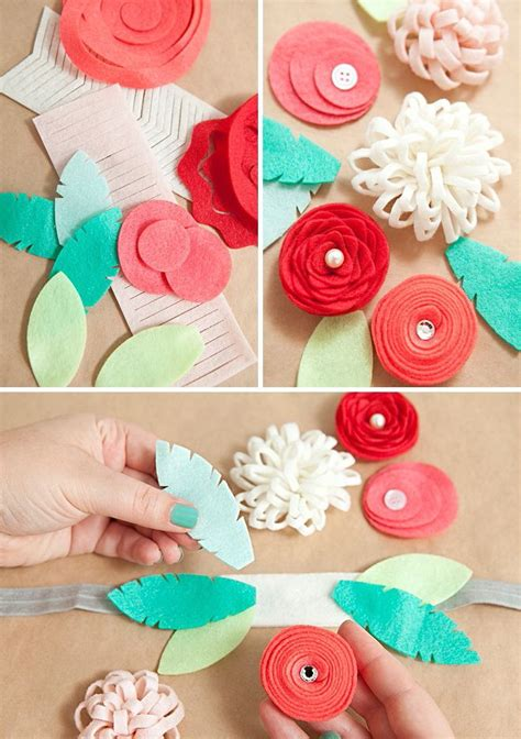 25 unique flower headbands ideas on easy to make diy hair accessories diy hair