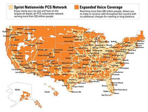sprint coverage map united states coverage maps