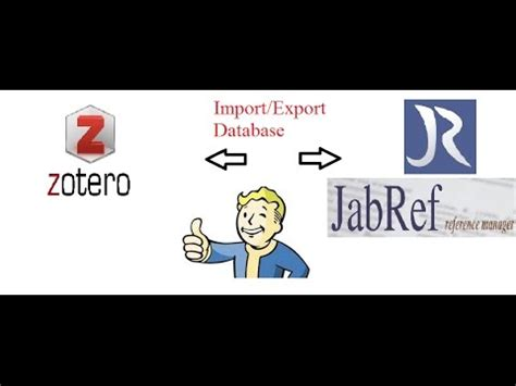 tutorial zotero tutorial 7 exporting importing from jabref to zotero