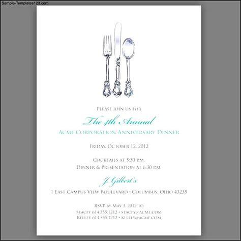 Dinner Invitation Letter Exle Dinner Invitation Template Exle Sle Templates
