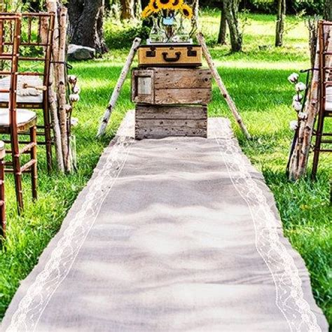 Wide Wedding Aisle Runner by Burlap Aisle Runner 40 Quot Wide X Choose Your Length Lace