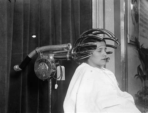 Hair Dryer Invented these early hair dryers from the 1920 s look like they are out of a horror wow