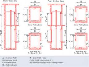 typical dimensions elevator dimensions cad
