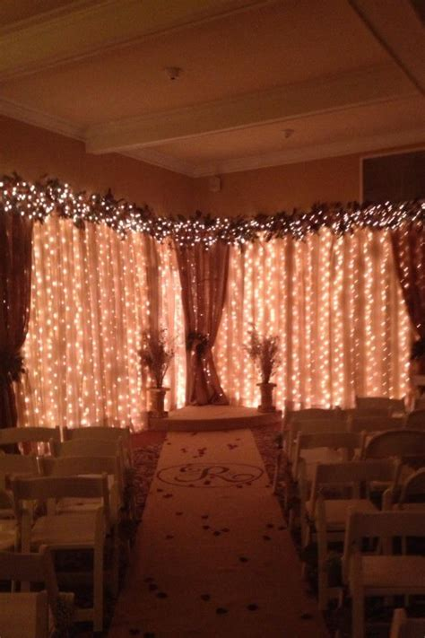 Wedding Backdrop Burlap by Wedding Backdrop Sheers Burlap White Lights Burlap