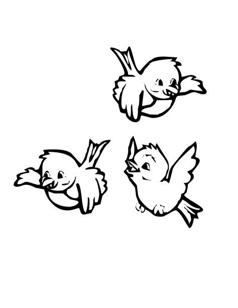 coloring pages of birds flying coloring pages