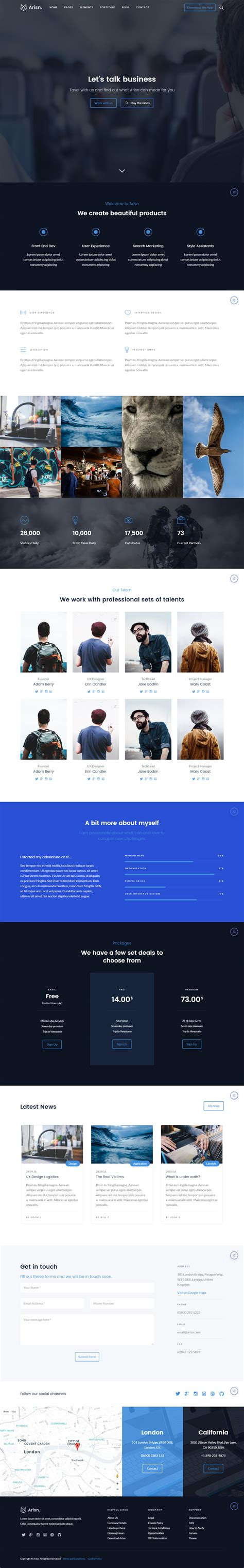 best bootstrap templates 35 best bootstrap templates 2017 responsive miracle