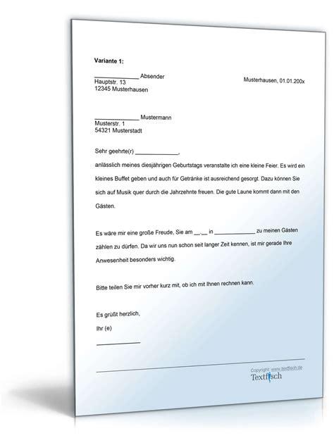 einladung zur visum einladung geburtstag gesch 228 ftspartner vorlage zum