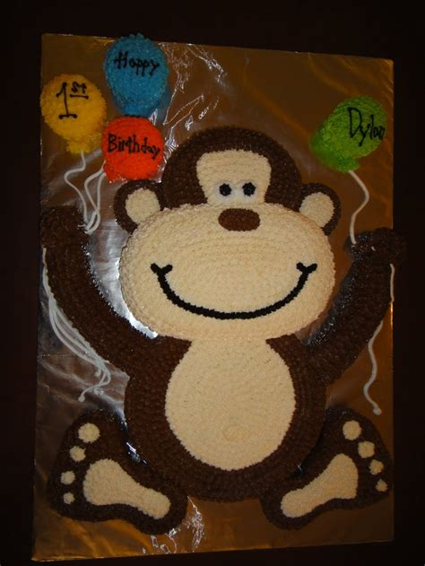 monkey birthday cake template creatures 26 characters monkey see 2c monkey do july