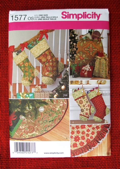 simplicity pattern for christmas stocking simplicity sewing pattern 1577 christmas stockings tree