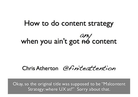 How Do You If You Aint Got Swag by How To Do Content Strategy When You Ain T Got No Content