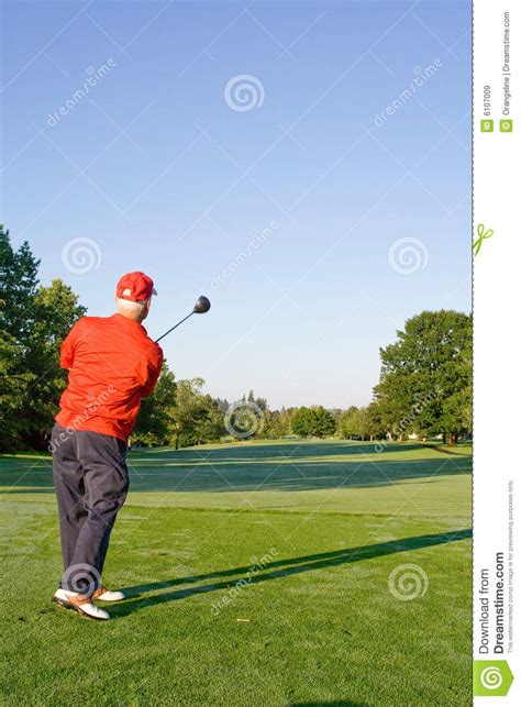 swinging golf club man swinging golf club royalty free stock images image
