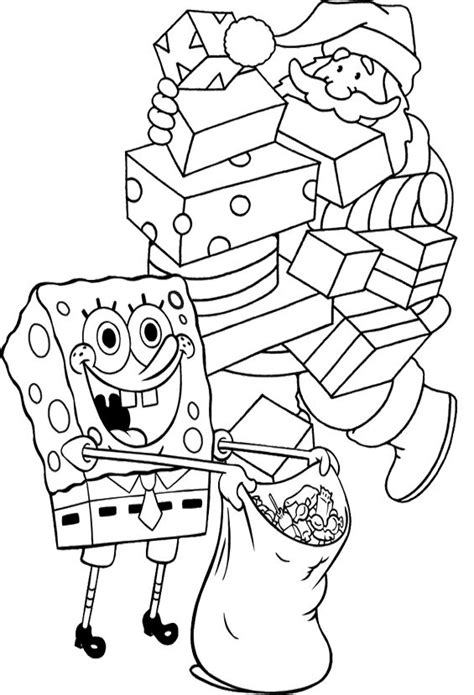 spongebob christmas coloring pages free printable spongebob christmas coloring pages coloring home