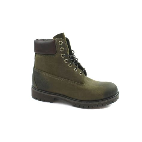 green timberland boots mens timberland 6 inch premium distressesd olive