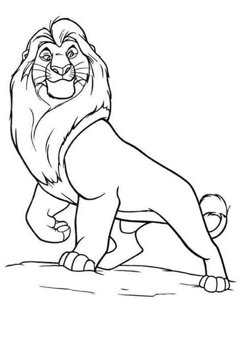 Printable The Lion King Coloring Pages Mufasa Coloring Pages