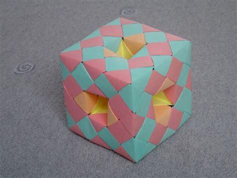 Menger Sponge Origami - modular origami fractal models folded by micha蛯 kosmulski