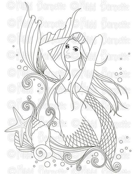 libro mermaids coloring book an 105 mejores im 225 genes de mermaids coloring en p 225 ginas para colorear libros