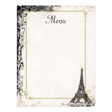9 best images of printable french menus printable french
