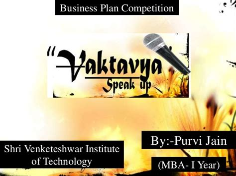 Nyu Tech Mba 1 Year Program by Business Plan Of Vaktavya Speak Up