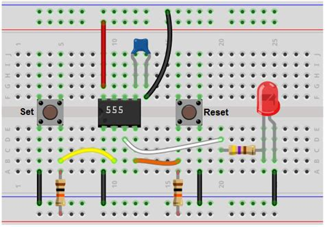breadboard circuit pictures how to build a 555 timer bistable circuit