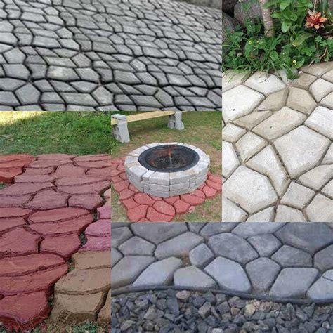 Driveway Paving Pavement Mold Patio Concrete Stepping Patio Molds
