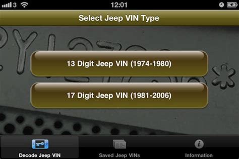 Jeep Vin Number Lookup Vin Number Decoder