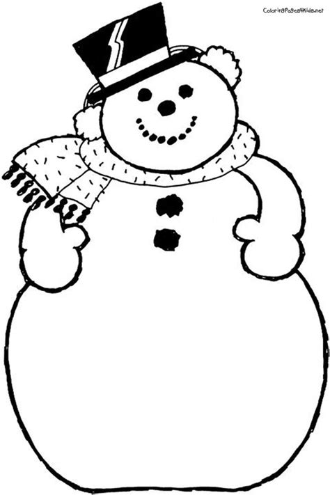 preschool coloring pages snowman blank snowman coloring page google search activities 4