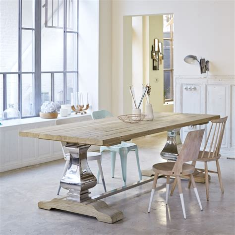 pine 240x100 table rousseau dining room tables tikamoon