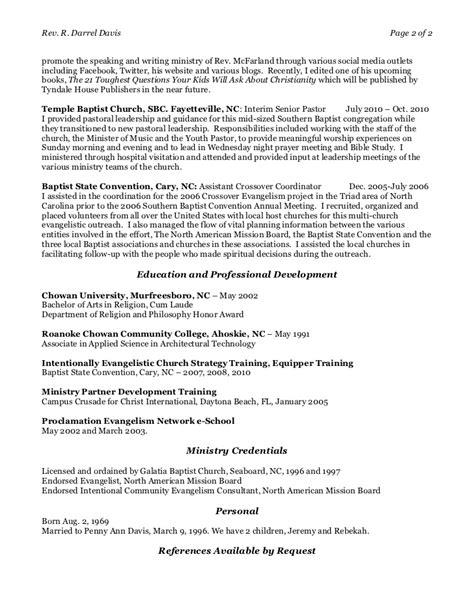 darrel new ministry resume