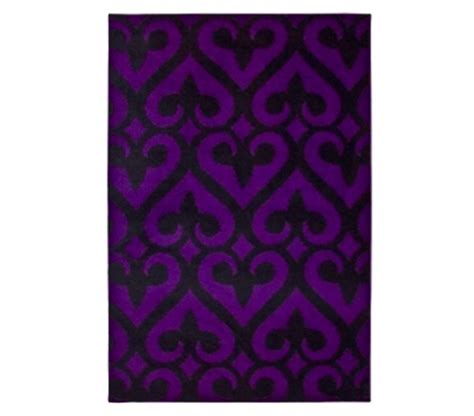 purple and black rug necessary item fleur de lis rug black and purple items for college students