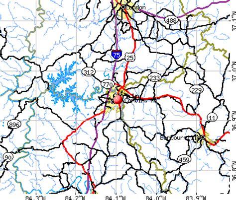 kentucky map corbin corbin kentucky ky 40701 40771 profile population