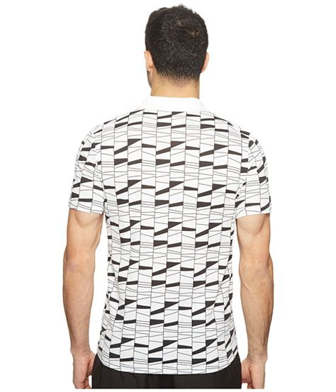 lacoste t2 all pattern light polo at 6pm