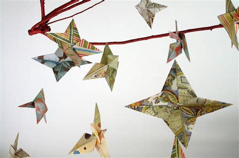 Map Origami Paper - origami map mobile map paper to make birds map it