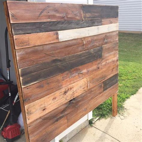 King Size Pallet Headboard by Diy Wood Pallet King Size Headboard Pallet Furniture Plans
