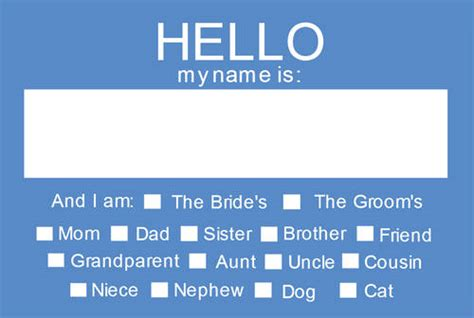 printable name tags for rehearsal dinner hello my name is wedding name tag rehearsal dinner name