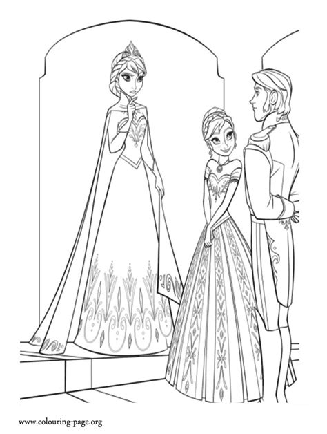 elsa coronation coloring pages anna coronation dress coloring pages