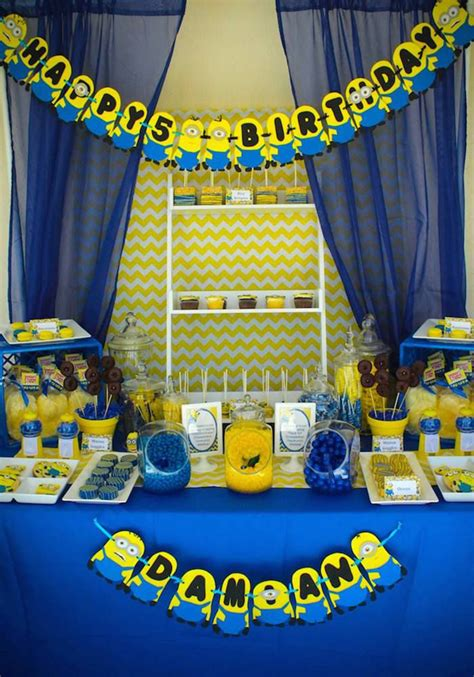 birthday themes minions 20 cute minions birthday party ideas home design and