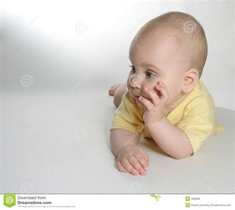 www baby baby think stock image image of young baby cute child