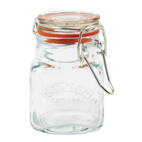 Best Spice Containers Kilner Square Clip Top Spice Jar 70ml Preserve Glass
