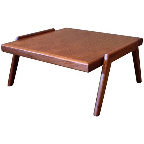 mid century modern side table mid century modern low walnut side table at 1stdibs