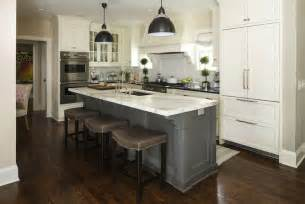 grey kitchen island gray barstools transitional kitchen benjamin white dove martha o hara interiors