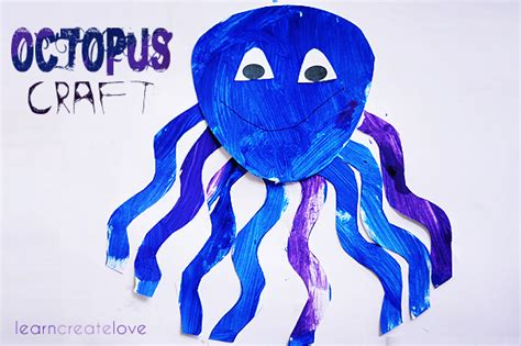 Octopus Paper Plate Craft - octopus for open house classroom ideas