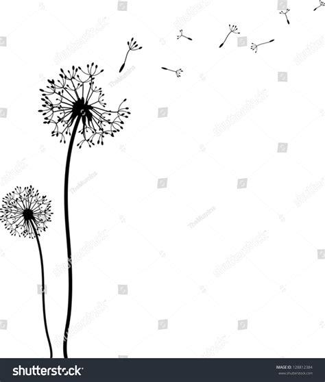blowing dandelions letters for santa dandelion time stock vector 128812384 shutterstock