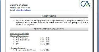 ca fresher resume sle over 10000 cv and resume sles with free download resume template free download