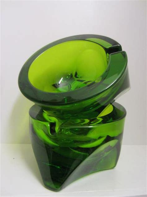 Sprei Green Deco Green Glass Ashtrays Deco Geometric Designer Unique