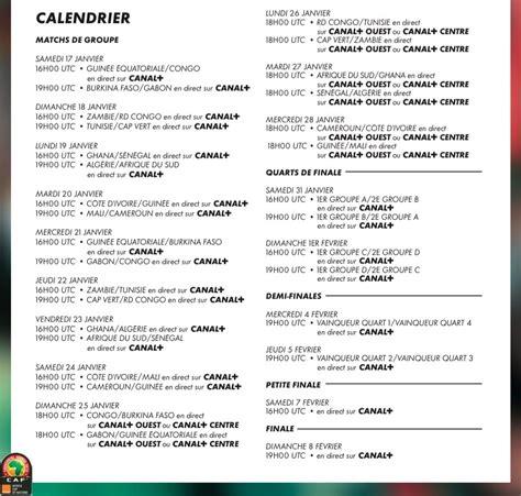 Calendrier Des Rencontres Calendrier Des Rencontres De La Can 2015 Seneplus