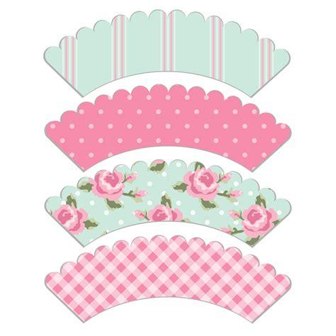 Free Wrapper Printable free printable cupcake wrapper shabby free