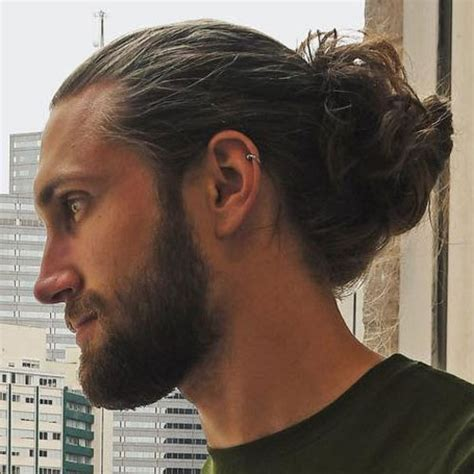 how to grow a manbun with shaved sides 19 man bun styles men s hairstyles haircuts 2017