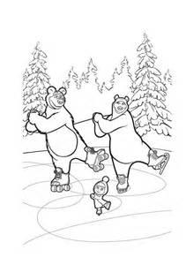 masha urso desenhos imprimir colorir pintar gratis masha bear desenhos